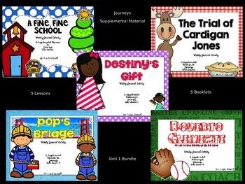Unit 1 Lessons 1-5 Journal Booklet  3rd Grade Journeys