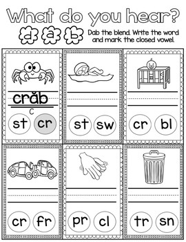 Unit 1 Level 2 - Digraphs, Closed Syllables, Blends