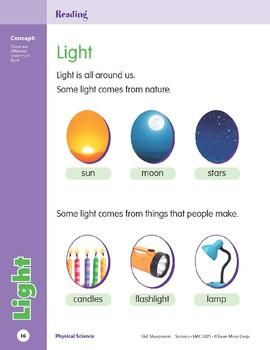 Unit 1: Light (Skill Sharpeners: Science)