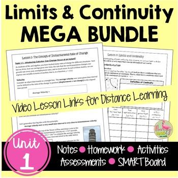 Calculus Limits and Continuity MEGA Bundle (Unit 1)
