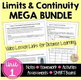 Calculus Limits and Continuity MEGA Bundle with Video Less