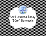 "Unit 1 Louisiana Social Studies ""I Can"" Statements"