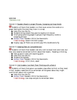 Lucy Calkins Reading Planning Guide 2nd Grade Unit 1