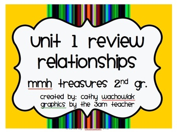 Unit 1 MMH Treasures 2nd Grade Review Games