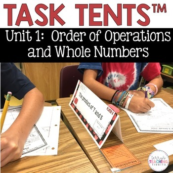 Task Tents™ - Math Edition {5th Grade Unit 1}