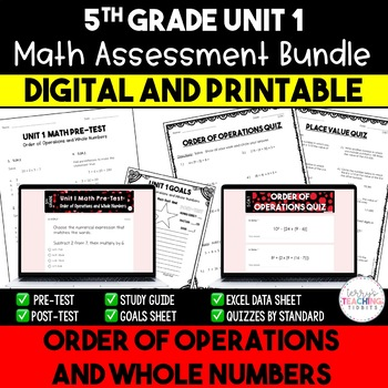 Unit 1 Math Resources - 5th Grade - Order of Operations an