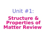 Unit 1 Matter General Review