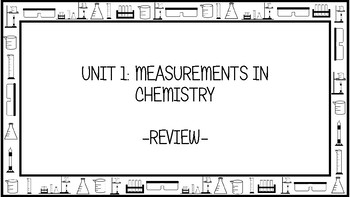Unit 1 Measurements in Chemistry Wall Walk Review Game