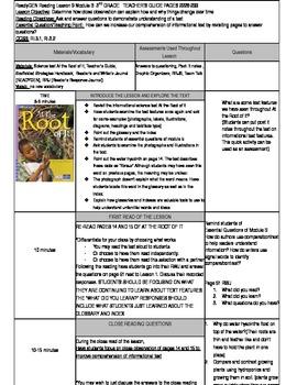 Unit 1 Module B Lesson 9 ReadyGEN Grade 3