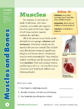 Unit 1: Muscles and Bones: Concepts (Skill Sharpeners: Science)