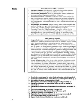 Unit 1 Notes: Foundations of the Constitution