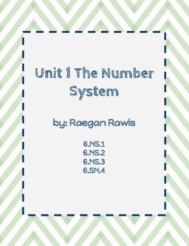 Unit 1: Number System Fluency Review BUNDLE