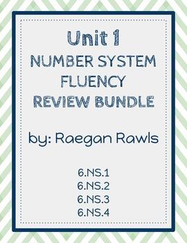 Unit 1: Number System Fluency Review BUNDLE
