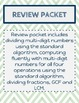 Unit 1-Number System Fluency Review Sheets Packet
