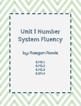 Unit 1-Number System Fluency Task Cards