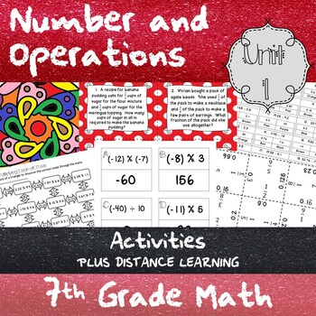 Unit 1 - Number and Operations - Activities - 7th Grade Math TEKS