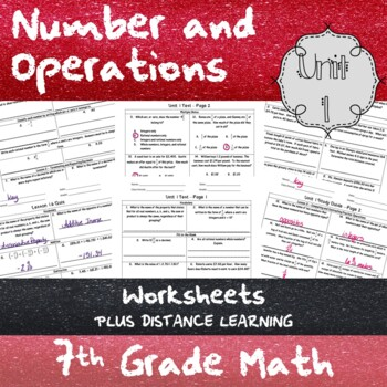 Unit 1 - Number and Operations - Worksheets - 7th Grade Math TEKS