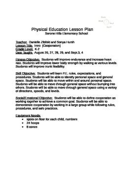 Unit 1 PE Cooperation K-2 (Physical Education)