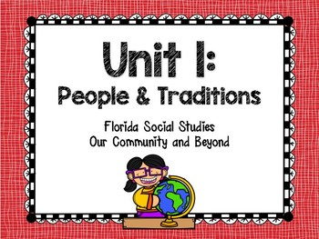 Unit 1: People & Traditions Booklet Bundle (McGraw Hill- Our Community & Beyond)