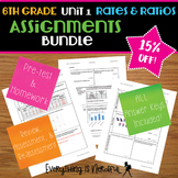 Unit 1: Ratios and Rates Assignments Bundle
