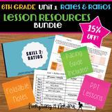 Unit 1: Ratios and Rates Lesson Resources Bundle