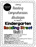 Unit 1 Reading Comprehension Strategies to Teach Kindergarten Reading Street