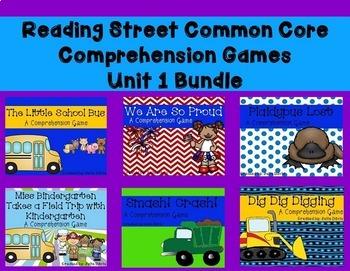 Unit 1 Common Core Comprehension Game Bundle