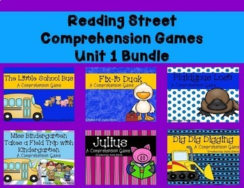 Unit 1 Comprehension Game Bundle