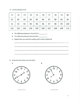 Unit 1 Review - Grade 3 Everyday Mathematics (Edition 4)