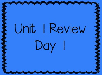 Unit 1 Review Week 2nd Grade Reading Street Powerpoints