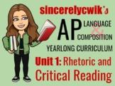 Unit 1: Rhetoric and Critical Reading