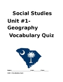 Unit 1 SC Geography Vocabulary Quiz
