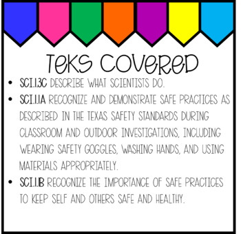 Scientists and Safety (1st Grade Science Notebook)