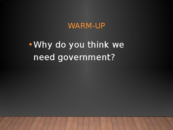 Need for Government Powerpoint