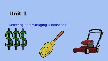 Unit 1: Selecting and Maintaining a Household