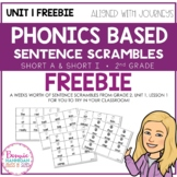 Unit 1 Sentence Scramble Sample - Freebie!