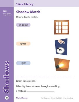 Unit 1: Shadows (Skill Sharpeners: Science)