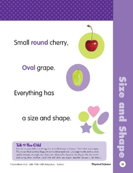 Unit 1: Sizes and Shapes (Skill Sharpeners: Science)