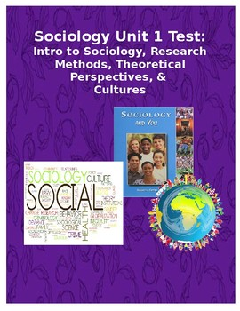 Unit 1 Sociology Test:  Intro to Sociology, Theoretical Perspectives, Culture