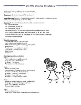 Spanish greetings crossword puzzle teaching resources teachers pay spanish greetings grades 1 3 m4hsunfo