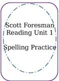 Unit 1 Spelling Practice