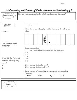 Unit 1 Springboard Course 1 Guided Notes