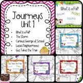 Unit 1 Stories 1-5 Journeys {spelling, grammar, and phonics practice} Bundle