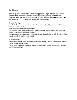Unit 1 TC Shared Reading Outline