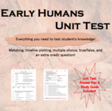 Unit 1 Test: Early Humans (plus study guide)