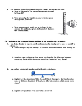 Test - Unit 1 - Measuring Matter