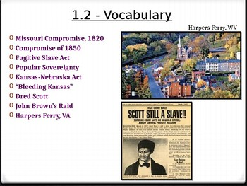 Unit 1 - The Civil War and Reconstruction - Lesson 1.2 -  STUDENT EDITION