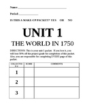Unit 1: The World in 1750