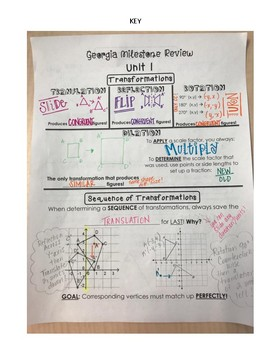 Unit 1 (Transformations and Angles) Georgia Milestone Review