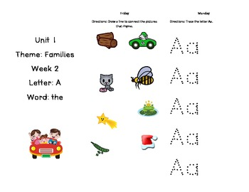 Unit 1 Treasures Tri-fold (kindergarten)
